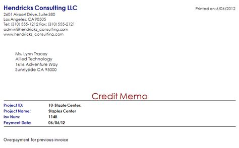 Credit Memo Letter Format 5 Memo Invoice Templates Excel Pdf Formats