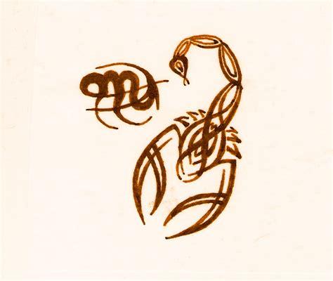 zodiac symbol and tribal scorpion scorpion tribal zodiac