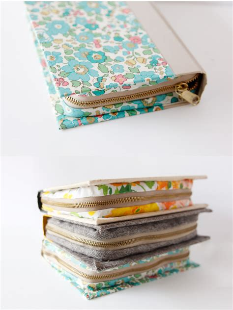 sewing pattern for zippered bible cover buy diy zipper book clutch tutorial see kate sew
