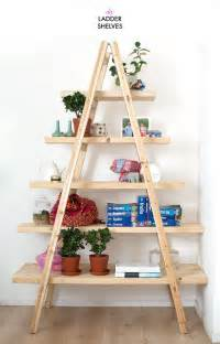 Bookcase Ladders Diy Ladder Shelves A Pair Amp A Spare Bloglovin