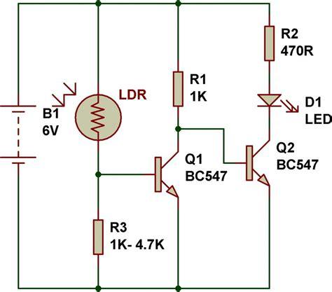 light sensor circuit using ldr image gallery ldr circuit