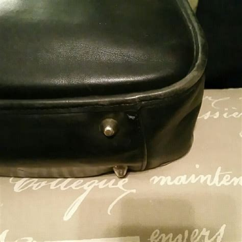 Chanel Vintage 8018 1335cnl 98 coach handbags classic vintage black leather coach shoulder bag from fantabulous s