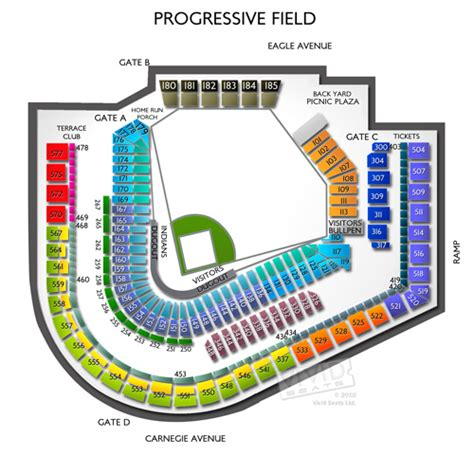section 357 c progressive field event information tickets and seating
