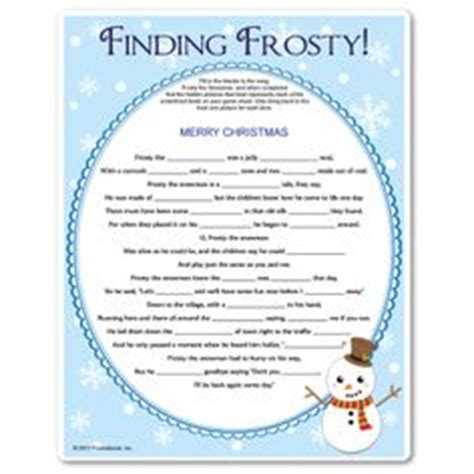 printable christmas fill in the blank games 8 best images of winter printable name that tune