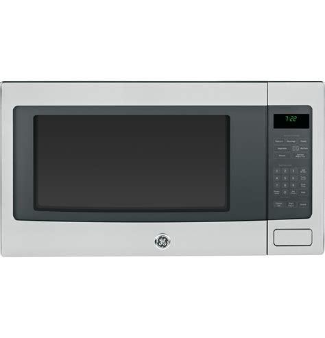 ge profile microwave ge profile series 2 2 cu ft countertop microwave oven peb7226sfss ge appliances