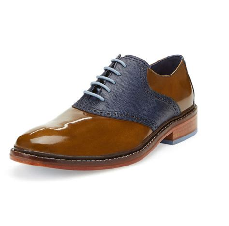 picture of saddle oxford shoes cole haan saddle oxfords