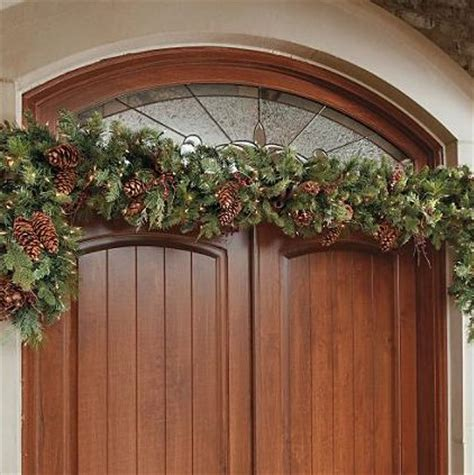 adjustable christmas garland hanger for double door frames
