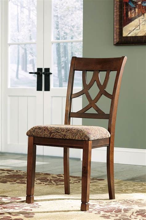 leahlyn medium brown dining upholstered side chair