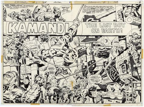 kamandi by jack kirby comicbook countdown for the week of june 8 sequential pictures