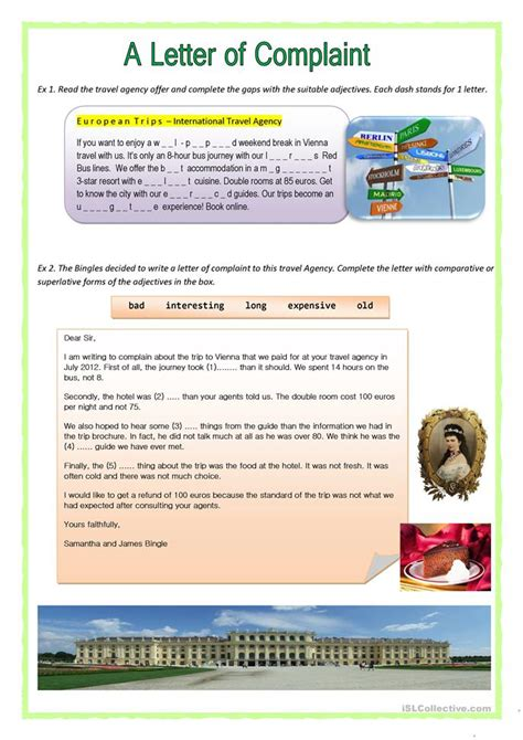 Complaint Letter B2 A Letter Of Complaint Worksheet Free Esl Printable Worksheets Made By Teachers