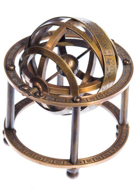 Miroir Metal 3066 by Sph 232 Re Armillaire En Laiton Astronomie 9cm Vintage Pirate