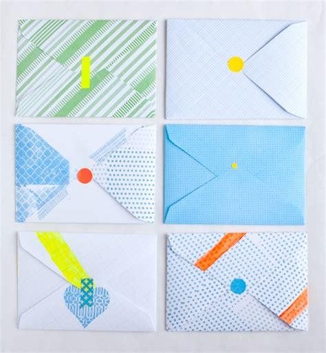 Handmade Envelope Pattern - yonagadou inspired color pattern envelopes
