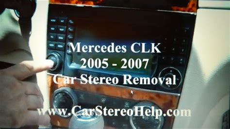 mercedes clk bose stereo removal   replace repair youtube