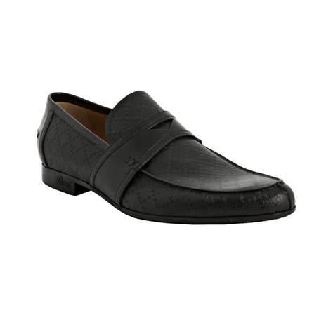 gucci slip on loafers gucci black diamante slip on loafers in black for lyst