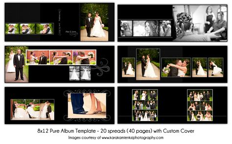 custom album layout free download pure 8x12 digital wedding album template 20 by katieanndesigns