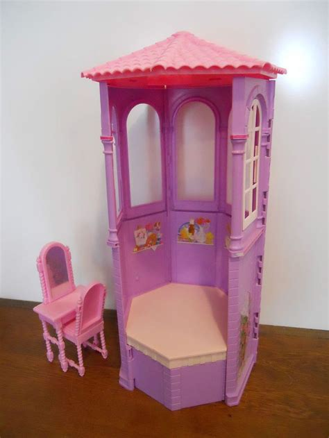 rapunzel doll house barbie rapunzel tower doll house furniture gazebo porch room vanity chair vanity