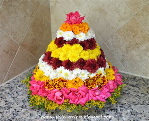 Home Decoration On Diwali Share A Recipe Bathukamma 2014