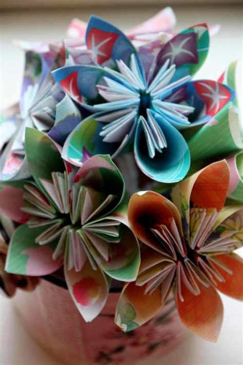 Paper Flowers Folding - step by step origami flower folding guide hgtv