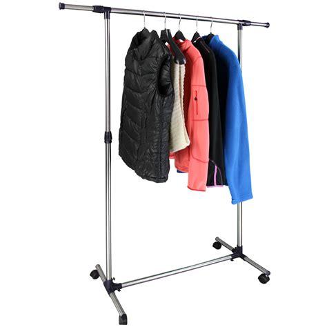 Hanging Garment Rack by Adjustable Mobile Hanging Rail Clothes Garment Rack Johann
