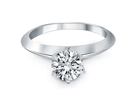 knife edge solitaire engagement ring mounting in 14k white