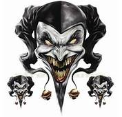 DECAL GRAPHIC For MOTORCYCLE WINDSCREENS Air Brush Jester