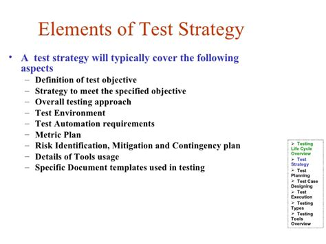 test automation strategy document template images