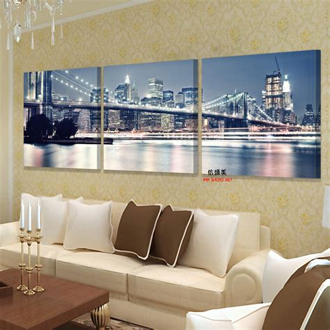 cheap home decore no frames picture 3 piece modern cheap home decor wall