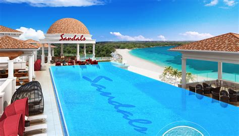 sandals resorts ranked sandals royal barbados roof top pool 187 best all inclusive