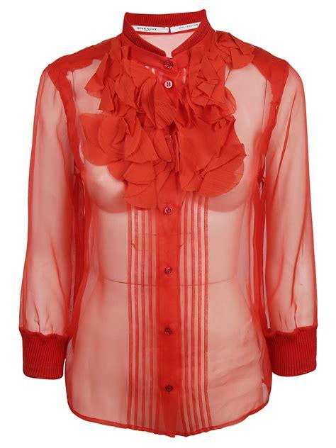 Blouse Cb 021 1 givenchy ruffle silk organza blouse in modesens