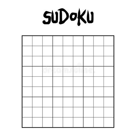 blank sudoku grid blank sudoku grid stock vector illustration of grid