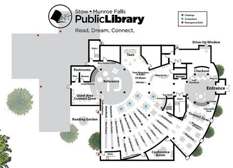 floor plan of a library library floorplan stow munroe falls public library
