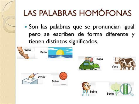 imagenes palabras homofonas tipos de palabras