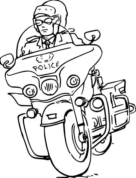 Coloriage Moto Police 224 Imprimer Sur Coloriages Info