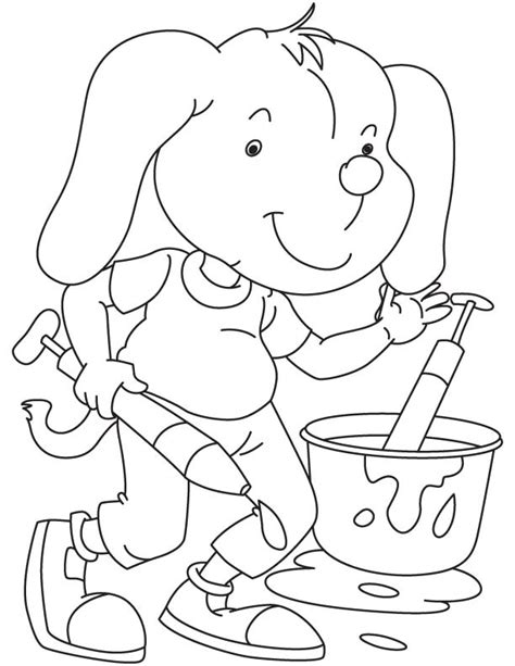 puppy playing coloring page dog playing holi coloring page download free dog playing