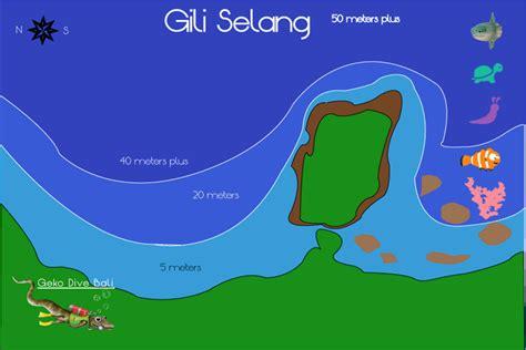 Selang Snorkel Scuba Diving bali gili islands scuba dive selang wall from