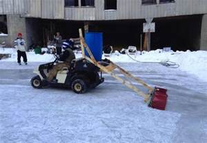 How To Make Ice Rink In Backyard Backyard Hockey Rink Features Homemade Zamboni