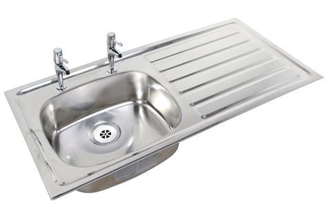 Twyford SS Stainless Steel 1028 x 500mm 2 Tap Hole Inset