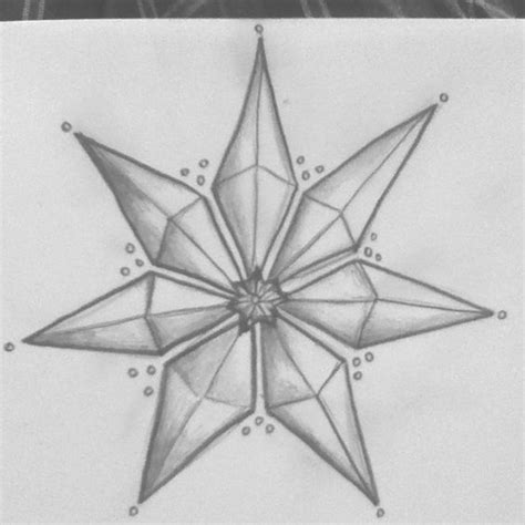 6 point star tattoo a sketch of a seven pointed based upon a of