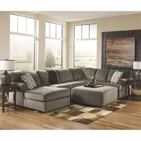 ashley dune sectional ashley jessa place 4 piece microfiber left chaise