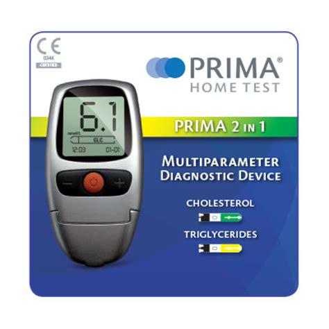 test colesterolo prima 2in1 self testing kit incl 5 strisce colesterolo e