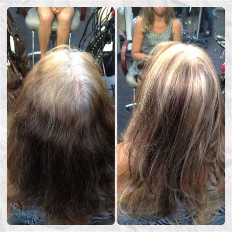 color highlights to blend gray into brown hair too young to be so grey blended for a low maintenance
