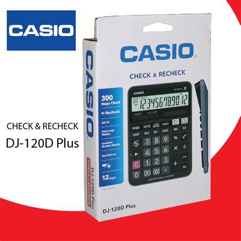Casio Calculator Dj 120d Plus international book center stationery office