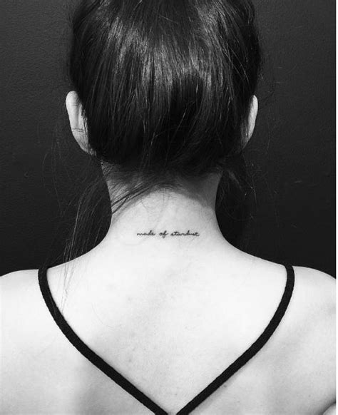 back of neck tattoo easy to hide 50 cute and small back neck tattoos ideas 2017