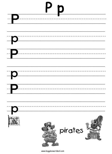 letter p alphabet worksheets
