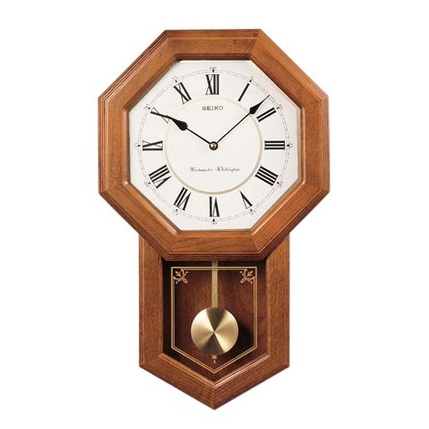 wall clocks with seiko schoolhouse wall clock with pendulum qxh110blh