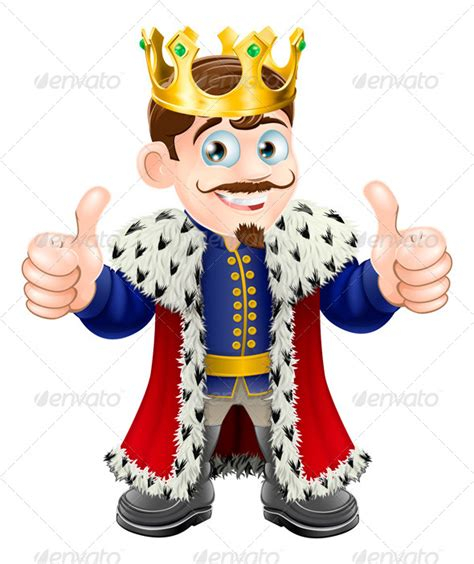 king cartoon graphicriver
