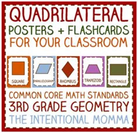 quadrilateral flashcards printable quadrilaterals on pinterest geometry rap and third