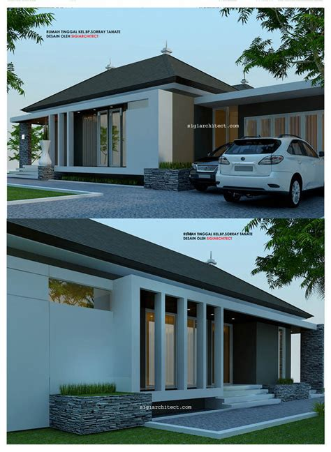 desain rumah 2 lantai pojok 2017
