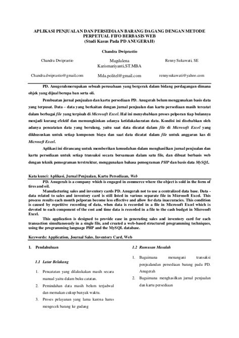skripsi akuntansi tentang penjualan penyusunan siklus akuntansi perusahaan dagang