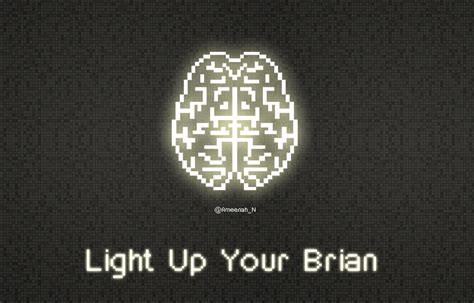 light up your brain light up your brain in pixels wallpaper by lil 2u on